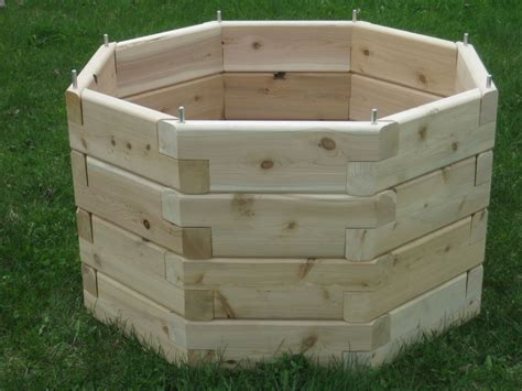 Cedar Planter Box Kits by Octagonal Raised Garden Octagon Raised Garden Bed