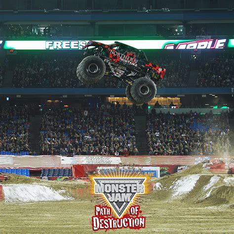 monster truck show metlife stadium monster jam path of destruction hits metlife stadium 6 14