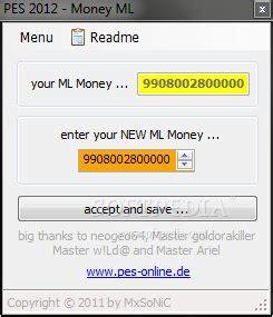pes 2012 money ml download