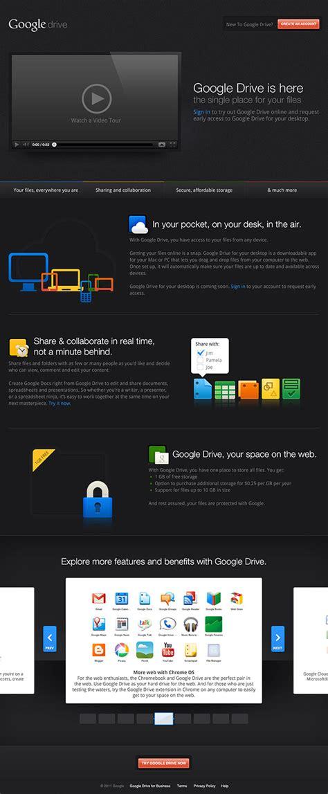 google drive  original website design illustration
