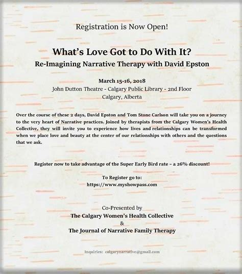 therapy registration re imagine narrative therapy registration open re authoring teaching