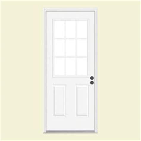 36 X 78 Exterior Door Jeld Wen 36 In X 78 In 9 Lite Primed Fiberglass Prehung Left Inswing Front Door W
