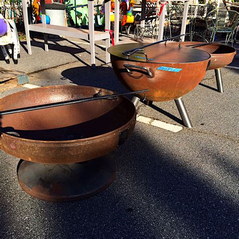 Custom Built Steel Fire Pit Kudzu Antiques Steel Firepits