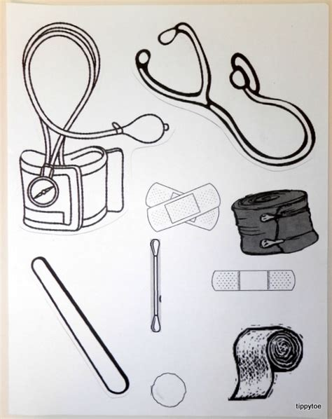 doctor bag craft template tippytoe crafts doctor s kit