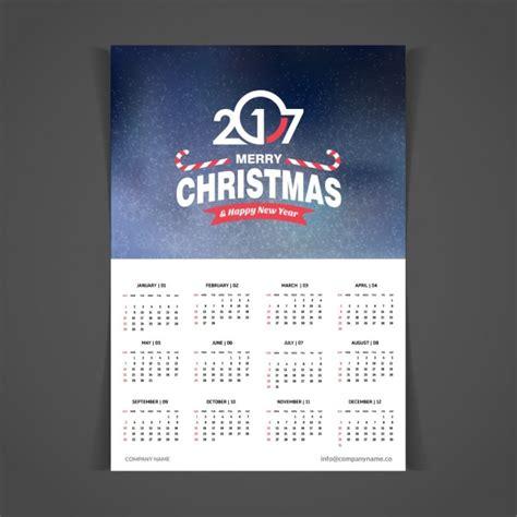 Christmas Calendar Template Free
