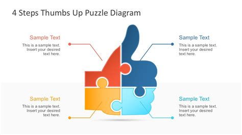 4 Step Thumbs Up Puzzle Powerpoint Template Slidemodel Powerpoint Diagram Templates
