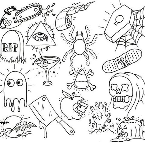 halloween tattoo specials collection of 25 book