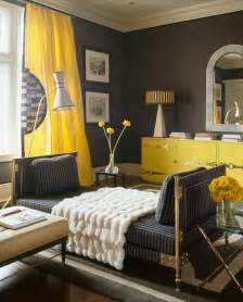 yellow and grey decor hot color combo yellow gray
