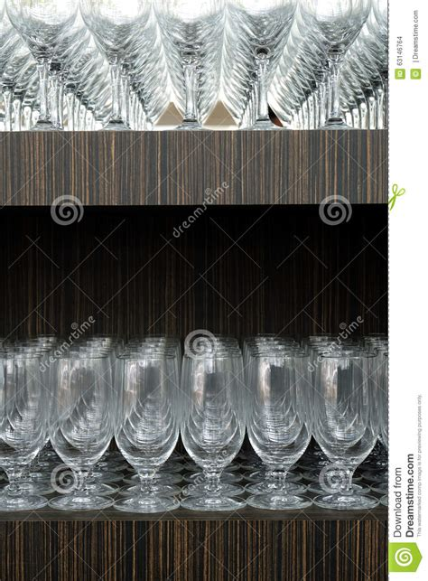On The Shelf Glasses by Wine Glasses Stock Photo Image 63146764
