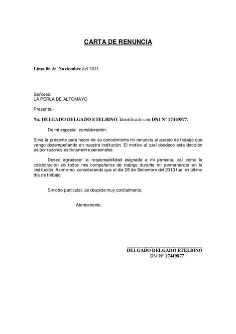 carta de renuncia trabajo ingles ejemplos de carta de renuncia al trabajo newhairstylesformen2014