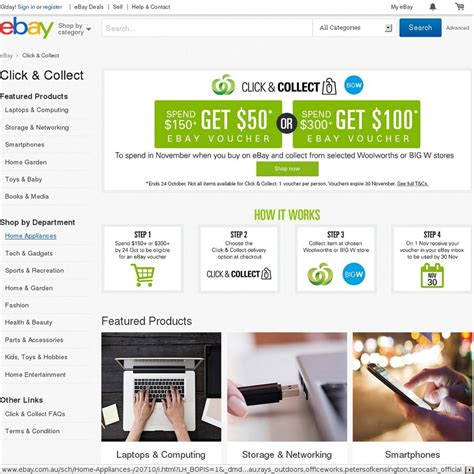 Woolworths 500 Voucher Giveaway - ebay click collect at woolworths or big w spend 150 get 50 voucher or spend 300