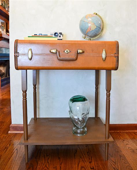 accent table decorating ideas accent table made from a suitcase