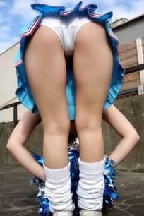 japanese in skirt bent asian booty cheerleader upskirt bent over panties on