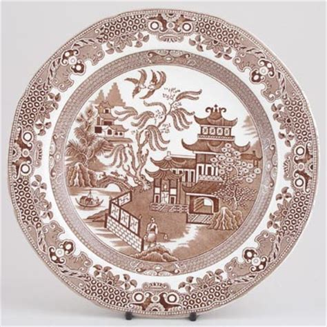 brown willow pattern china by top british brands burleigh spode portmeirion