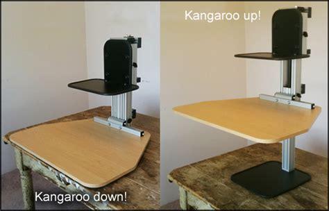 stand up desk kangaroo ergodesktop s kangeroo an adjustable stand up desk