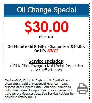 hyundai change coupon highlands ranch mcdonald
