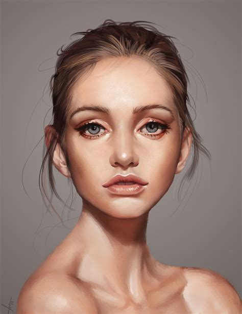 pintrest book beautiful faces drawn portrait digital pencil and in color drawn