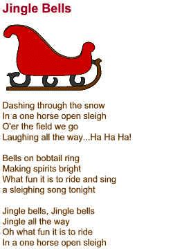 day 29 a song from my early childhood jingle bell song