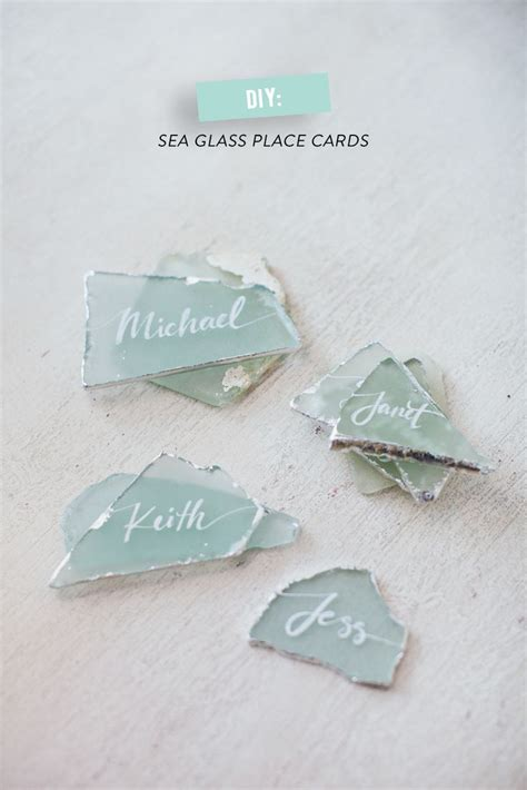 diy place cards calligraphy silver diy place cards glass read