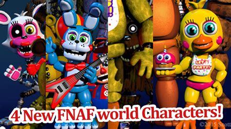 imagenes extrañas de fnaf 3 4 new fnaf world characters revealed fnaf world news