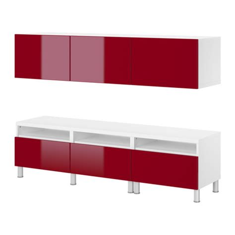 ikea besta red shelving that works hard and looks great versa style