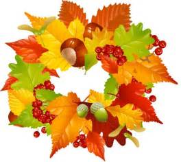 colorful clip art for the fall season fall leaves wreath