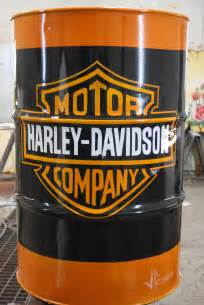 Man Cave Garage Designs bidon harley davidson