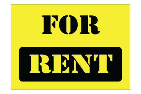 printable house for rent sign printable for rent sign free printable signs pinterest