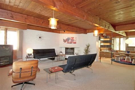 modern w a side of ranch midcentury living room richard j stromberg designed mid century ranch back on