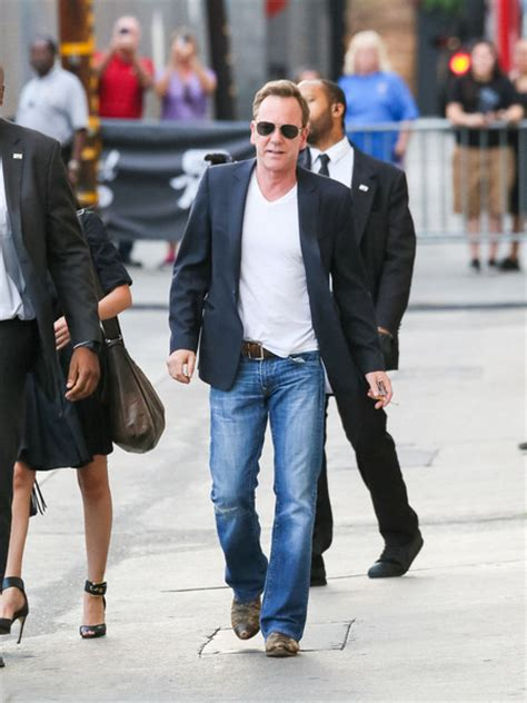 Hoodiejaketsweater Wars 1 kiefer sutherland is seen outside jimmy kimmel live 6 of 15 zimbio