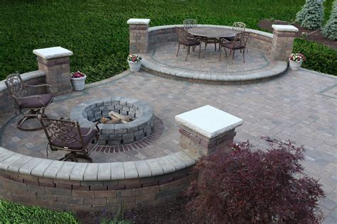 patio firepit types of brick patio designs to make your garden more