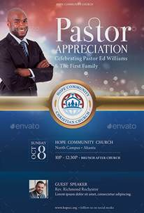 anniversary poster template pastor appreciation flyer templates graphicmule