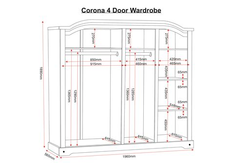 Corona Mexican Pine 4 Door Wardrobe by Corona Mexican 4 Door Wardrobe Distressed Waxed Pine Ebay