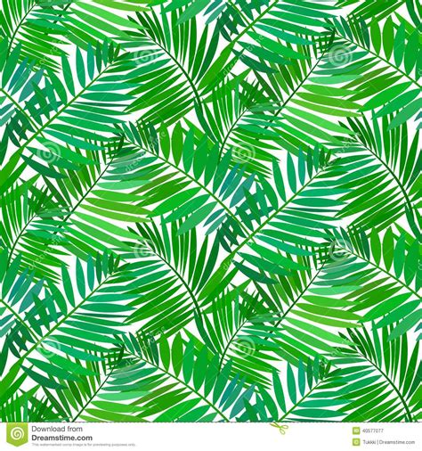 green pattern houseplant seamless pattern with tropical palm leaves stock vector