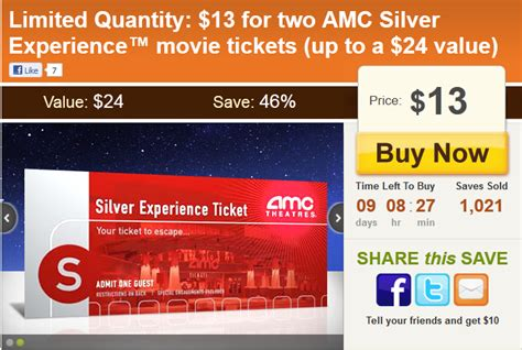 printable amc movie tickets eversave 2 amc silver experience movie tickets for 13
