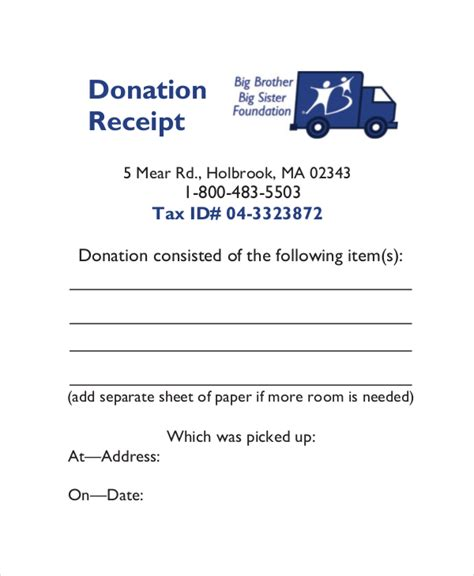 tax receipt for charitable donations template 15 receipt templates free premium templates