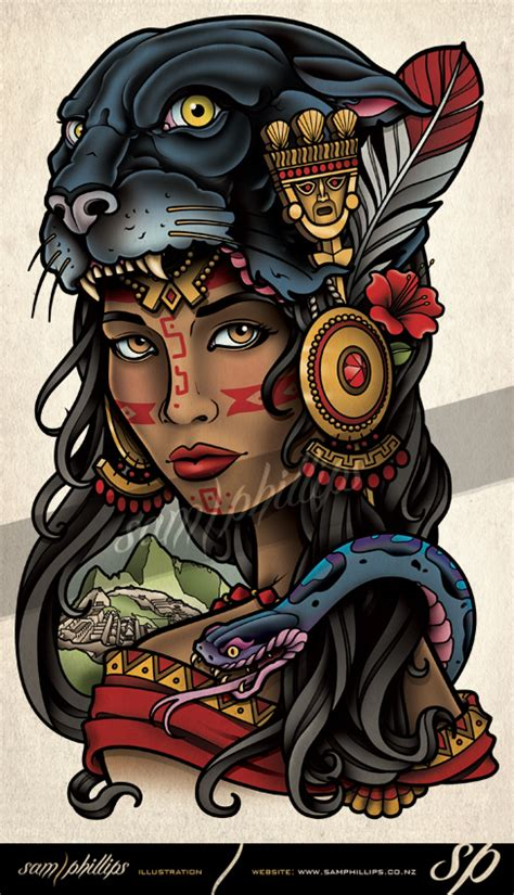 inca jaguar tattoo by sam phillips nz on deviantart