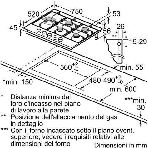 piano cottura bosch 5 fuochi bosch pcs7a5m90 piano cottura a gas 75 cm 5 fuochi colore