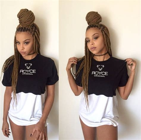 thick single plaits with extensions style box briads single plaits extensions bun back leave out