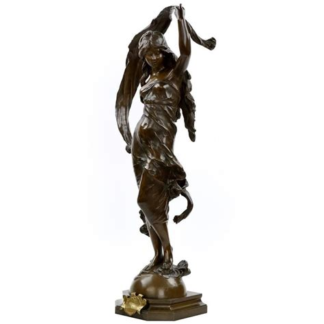 Bronze L by Large Bronze Sculpture Of L Aurore After Model By Auguste