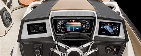 boat dashboard touch screen glass dashboard is harris boats latest