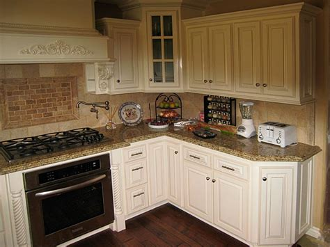 Angled Kitchen Cabinets by Custom Kitchen Cabinets