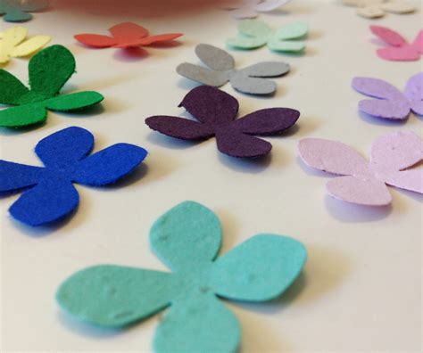 How To Make Flower Seed Paper - plantable seed paper flowers 100 plantable seed paper