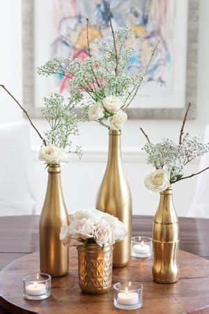 Silver Mercury Glass Vase 50th Anniversary Party Ideas