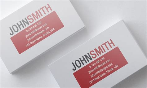 minimalist red business card template by nik1010 on deviantart