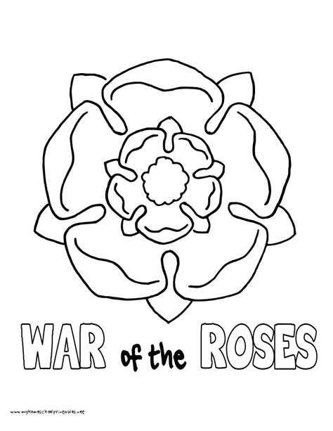 tudor rose coloring page tudor roses coloring pages
