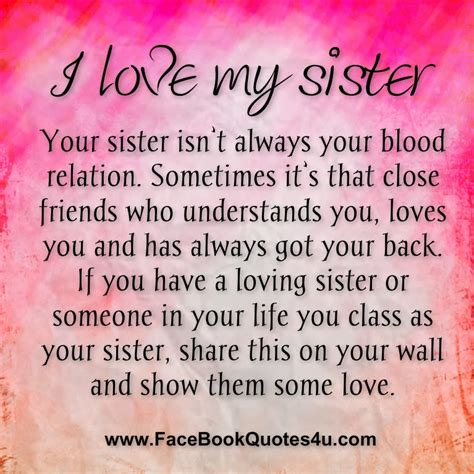 love  sister quotes  facebook quotesgram