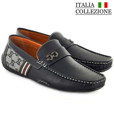 designer loafers mens designer loafers leather look italian driving shoes