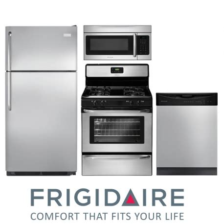 energy star kitchen appliances frigidaire 4 piece kitchen set in stainless steel with energy star dishwasher appliance nation