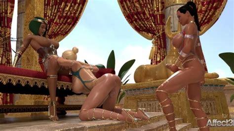 Ebony And Blonde Futanari Babes Entertaining The Egyptian